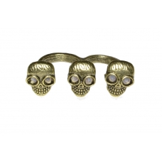 Drie Gouden Doodskoppen Ring