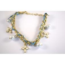 Blauwe Armband met Ketting & Bedeltjes