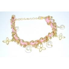 Roze Armband met Ketting & Bedeltjes