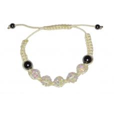 Beige/Witte Kralen Armband