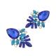 Blauwe Kristallen Oorbellen