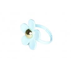 Blauwe Bloem Ring
