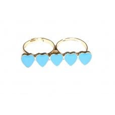 Blauwe Hartjes Ring