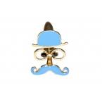 Blauwe Man Met Snor Ring