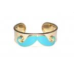 Blauwe Snor Armband