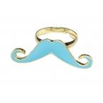 Blauwe Snor Ring