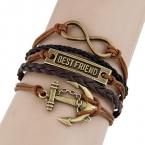 Bruine Anker, Best Friend & Infinity Armband