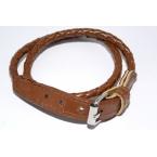 Bruine Lederenlook Armband