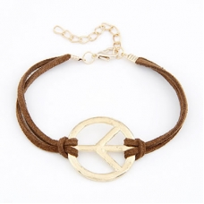 Bruine Peace Teken Armband