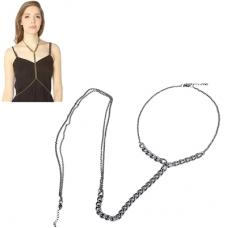 Donker Grijze Chain Body Chain