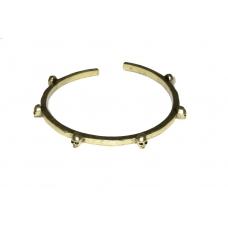Donker Gouden Doodskop Armband