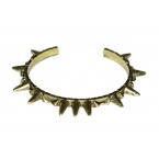 Donker Gouden Spikes Armband