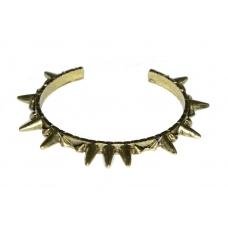 Donker Gouden Spikes Armband