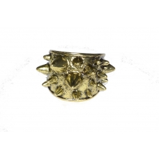 Donker Gouden Spikes Ring