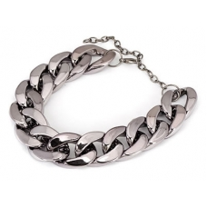 Donker Grijze Chain Armband