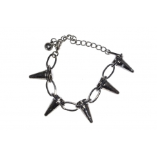 Donker Grijze Spikes Armband