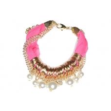 Donker Roze Armband Met Parels