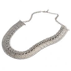 Donker Zilveren Unieke Halsketting