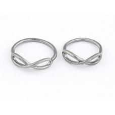 Donker Zilveren Vlecht Ringen