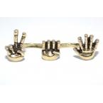 Dubbele Gouden Handen Ring