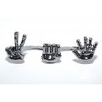 Dubbele Zilveren Handen Ring