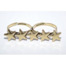 Dubbele Gouden Sterren Ring