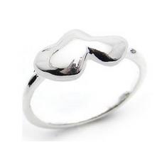 Dubbele Zilveren Hartjes Ring