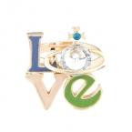 Gekleurde Love Letters Ring
