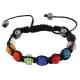 Gekleurde Shamballa Armband