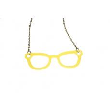 Gele Brillen Ketting
