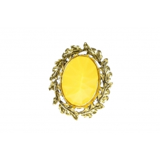 Gele Laurierkrans Ring