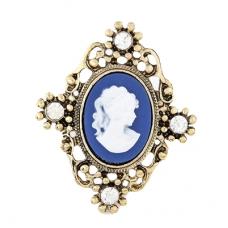 Goud Met Blauwe Vrouw Ring