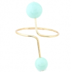Goud Met Licht Blauwe Parels Armband