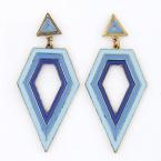 Gouden Blauwe Tinten Oor Hangers