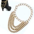 Gouden Chains Enkel Ketting