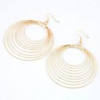 Gouden Cirkel Ringen Oorbellen