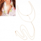 Gouden Diamanten Body Chain