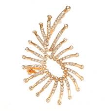 Gouden Diamanten Steentjes Sier Ear Cuff