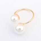 Gouden Dubbele Parel Ring