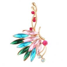 Gouden Gekleurde Kristallen Sier Ear Cuff