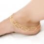 Gouden Gewoven Chains Enkel Ketting