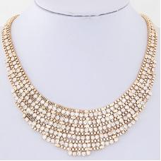 Gouden Gewoven Kristallen Ketting