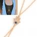 Gouden Ketting Met Handpalm Body Chain