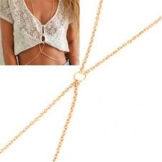 Gouden Ketting Met Ring Body Chain