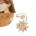 Gouden Kristallen Bloem Ear Cuff