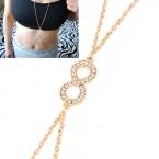Gouden Kristallen Infinity Body Chain