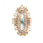 Gouden Kristallen Met Kristal Ring