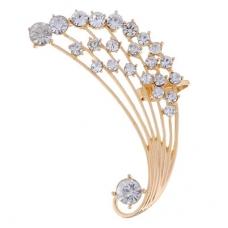 Gouden Kristallen Pauwen Staart Ear Cuff