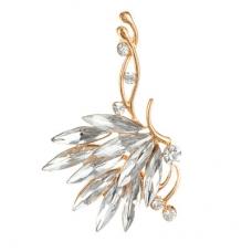 Gouden Kristallen Sier Ear Cuff