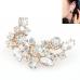 Gouden Kristallen Steentjes Oorbellen